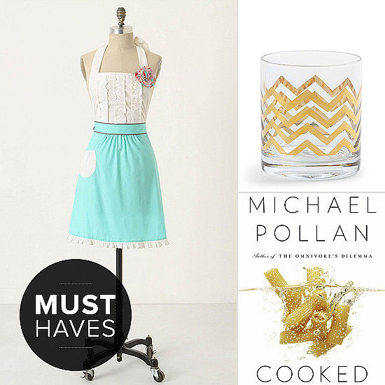 Shower the start of 2013's second quarter with a handful of POPSUGAR Food's favorites, from Mad Men-era barware to a new book on edible flowers.