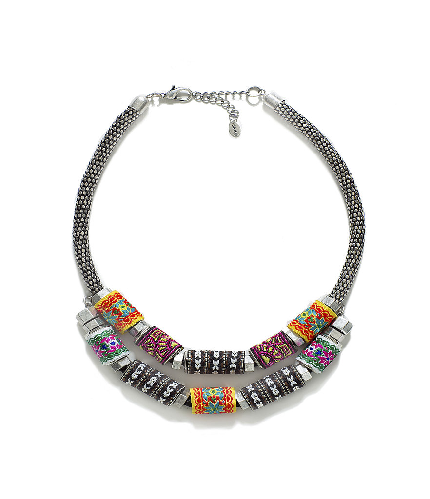 We'd wear this Zara silver-plated necklace ($26) with all our bohemian-chic Summer looks.