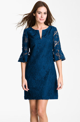 Adrianna Papell Ruffle Sleeve Lace Dress