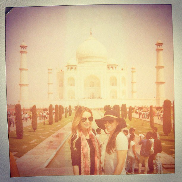 Lauren Conrad and Hannah posed for a snap in front of the Taj Majal.  Source: Instagram user laurenconrad