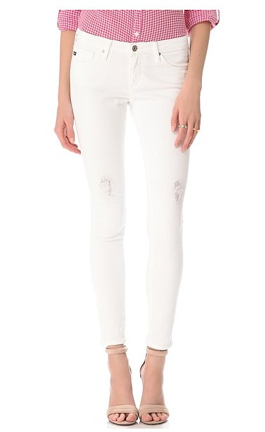 We'll consider these AG Adriano Goldschmied destroyed jeans ($130, originally $185) our perfect pair of white denim — and we'll wear them all season to prove it.