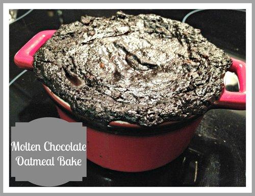 Gluten Free Molten Chocolate Oatmeal Bake