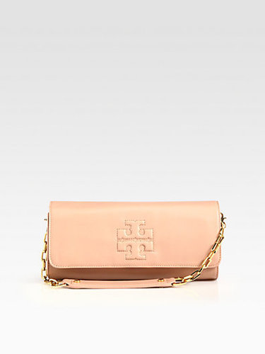 Tory Burch Bombe Leather East/West Convertible Clutch