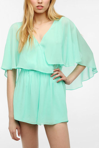 Pins And Needles Chiffon Flutter Sleeve Romper