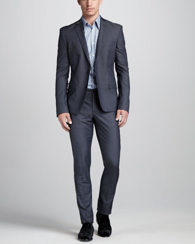 Versace Collection Trend-Fit Cotton Suit