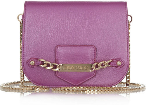 Jimmy Choo Shadow pearlescent leather shoulder bag