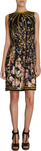 Thakoon Floral Bird Print Sleeveless Dress