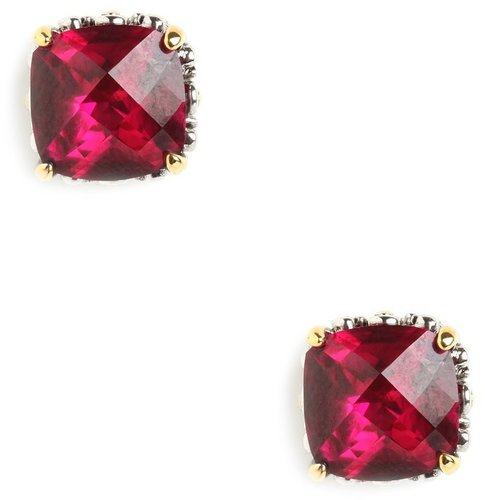 Ruby Cushion Cut Studs