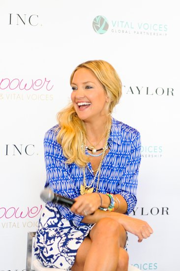 Kate Hudson gave her first motivational speech at the Vital Voices Leadership Forum. 