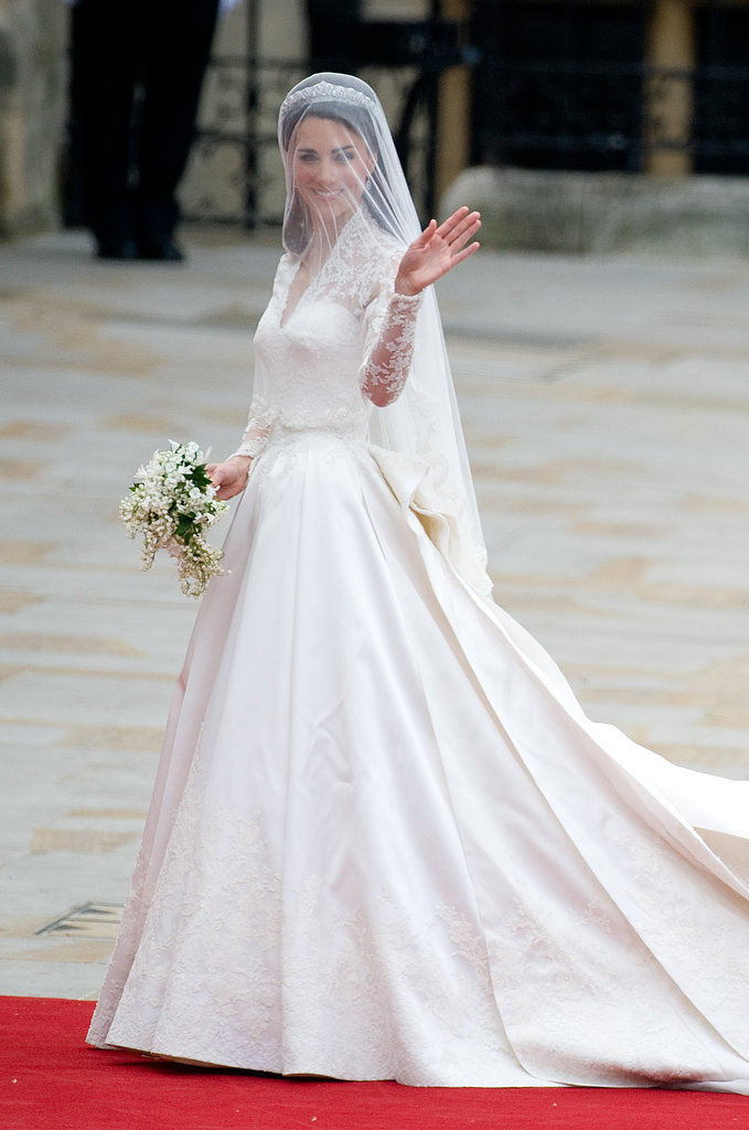 Kate Middleton made jaws drop all over the world when she married Prince William in a now-iconic Sarah Burton for Alexander McQueen gown with intricate lace sleeves in April 2011. From top to bottom, it was what wedding dress dreams are made of.