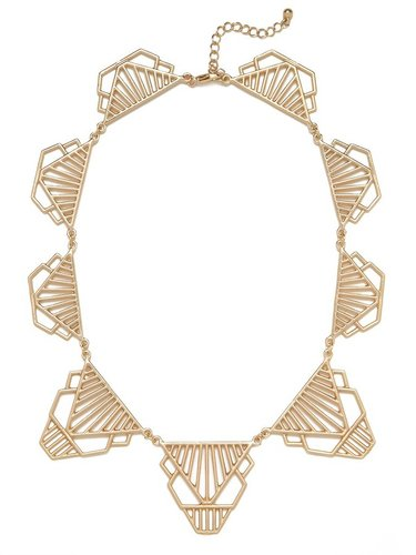 Gold Cleo Deco Collar