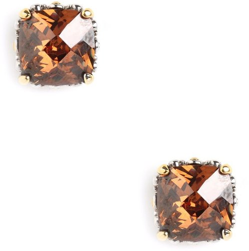 Amber Cushion Cut Studs