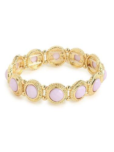 Lilac Twist Frame Bracelet