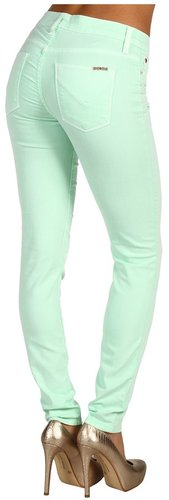 Hudson - Nico Super Skinny Mid Rise in Mint (Mint) - Apparel