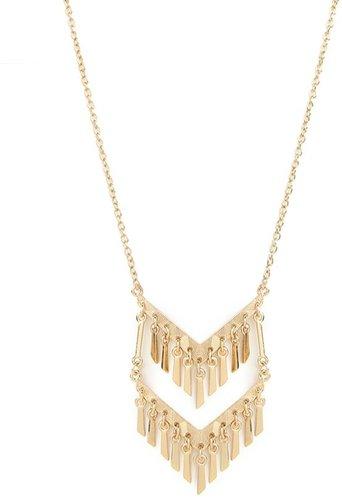 Gold Chevron Fringe Pendant