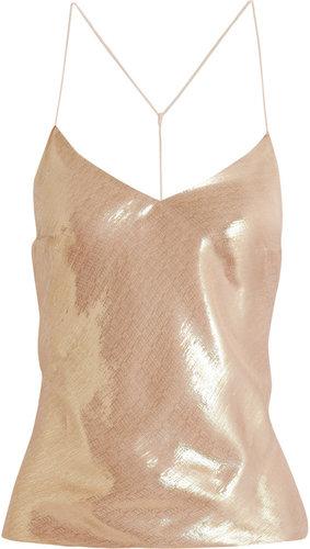 Vionnet Metallic silk-blend camisole