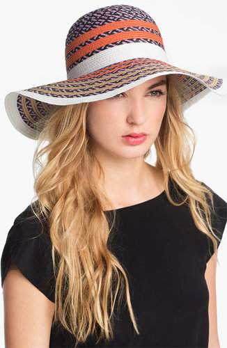 BCBGeneration Pop Stripe Floppy Sun Hat