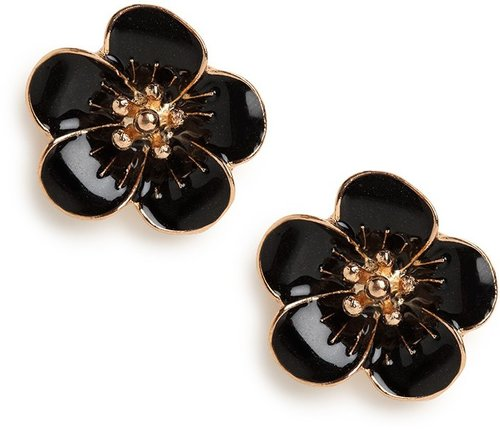 Black Bloom Studs