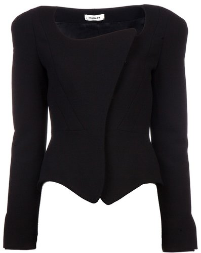 Mugler Fitted asymmetric jacket