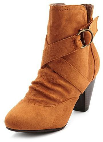 Sueded X-Front Ankle Boot