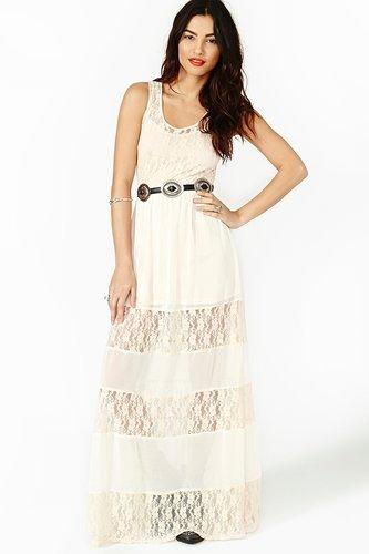 Laced Maxi Dress - Cream