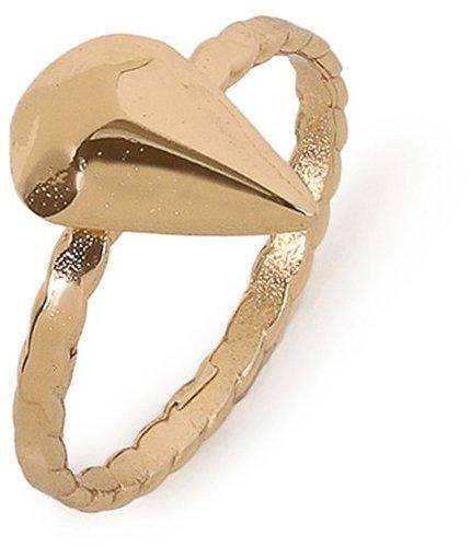Bing Bang Gold Diamond Teardrop Ring