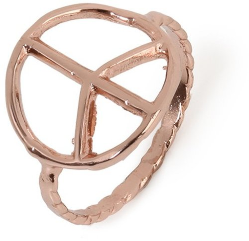 Bing Bang Rose Gold Peace Ring