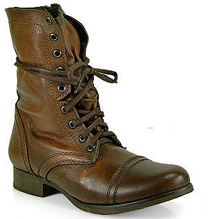 Steve Madden - Troopa -  Combat Boot in Brown Leather