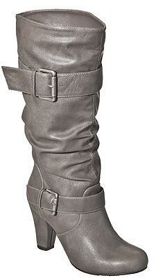 Women's Xhilaration® Kainda Heeled Boot - Grey