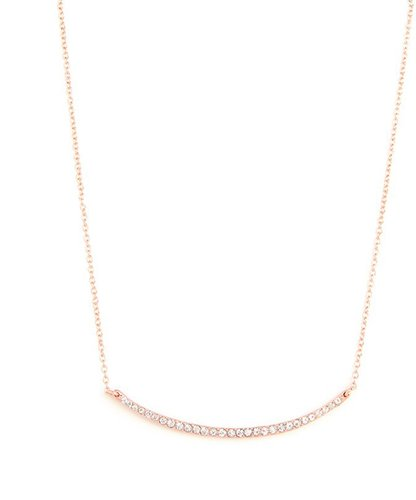 Rose Gold Glitz Bar Pendant