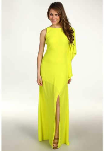 BCBGMAXAZRIA - Janus One-Shoulder Gown (Bright Lime) - Apparel