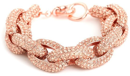 Rose Pavé Links Bracelet