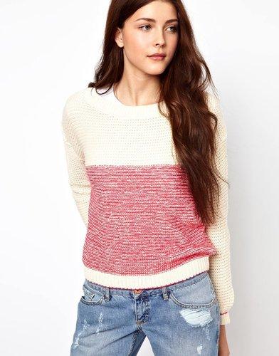 Vero Moda Two Tone Knit Sweater