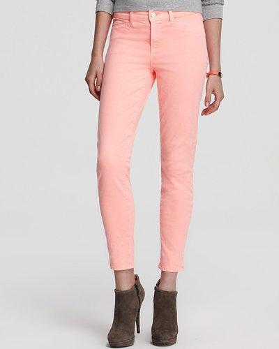 J Brand Jeans - Harper Mid Rise Twill Capri in Neon Coral