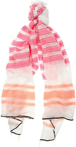 LemLem Ishi striped cotton-blend voile scarf