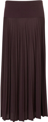 High Waist Pleat Maxi Skirt