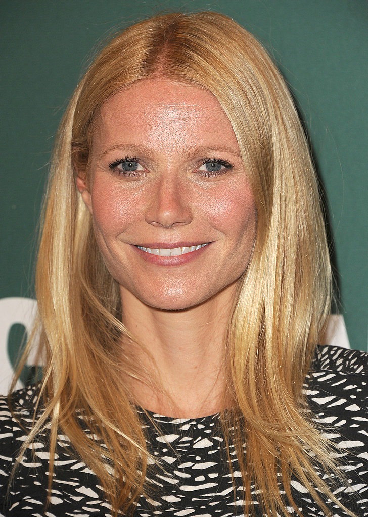 Gwyneth Paltrow signed copies of her new cookbook at Barnes & Noble in LA.
