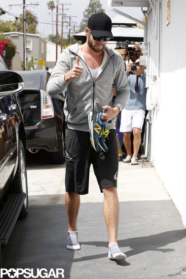 Liam Hemsworth Shows a Positive Outlook in LA