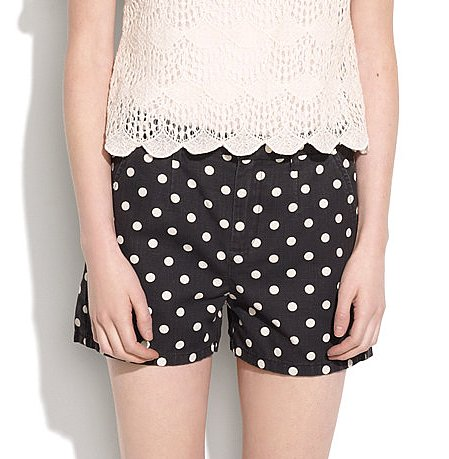 We think every girl should get behind polka-dot shorts, and this Madewell pair ($60) features a classic color combo you can wear for years.