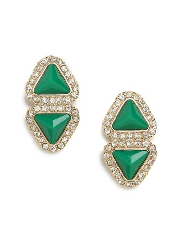 Green Double-Triad Studs