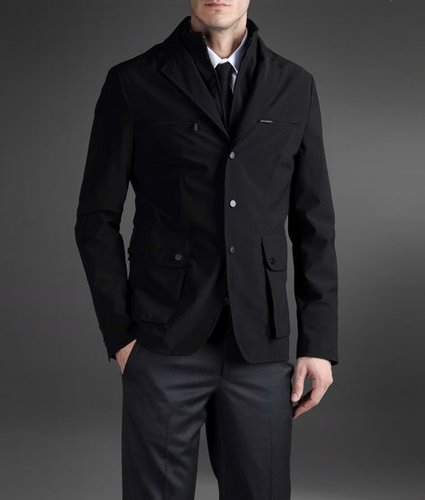 Jacket In Technical Fabric Second Detachable Collar