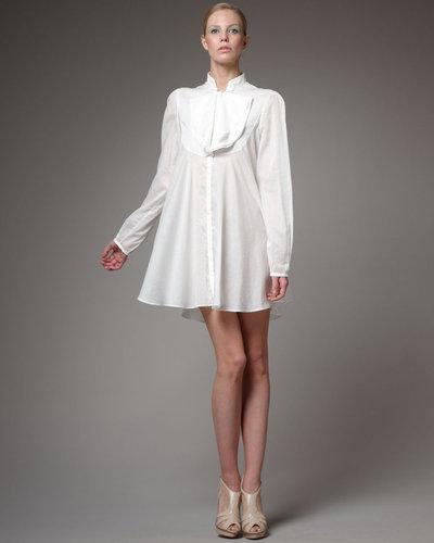 Alexander McQueen Ruffle-Front Shirtdress