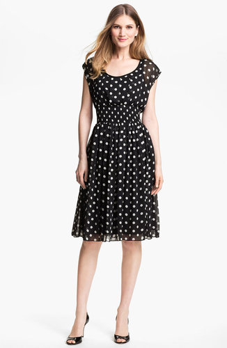 Isaac Mizrahi New York Polka Dot Chiffon Dress