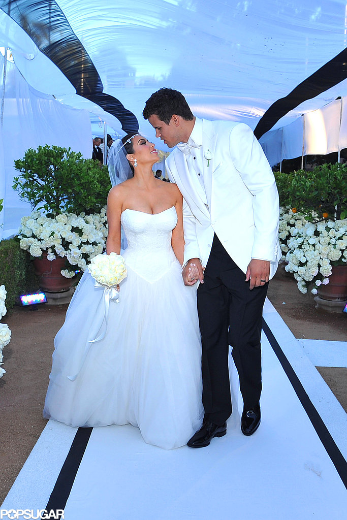 Kim Kardashian and Kris Humphries started their 72-day marriage with an LA ceremony that took place in August 2011.