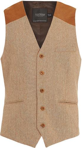 Rust Tweed Waistcoat