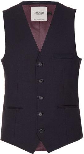 Navy Up Spec Suit Waistcoat