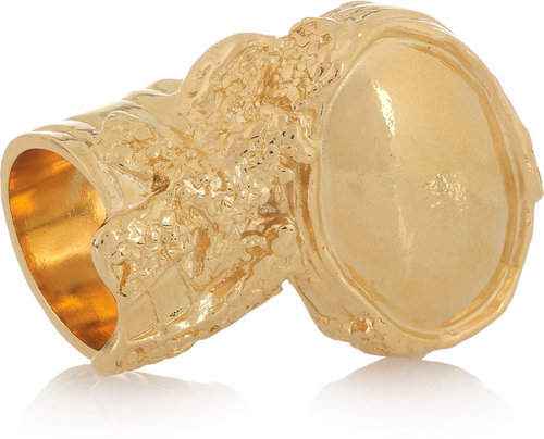 Yves Saint Laurent Arty gold-plated ring