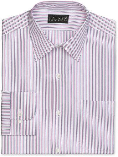 Lauren by Ralph Lauren Mens Lauren by Ralph Lauren Dress Shirt, Pink and White Stripe Shirt