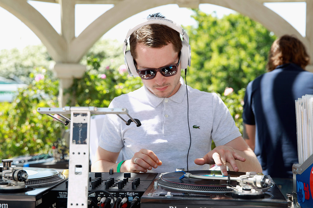 Elijah Wood played DJ at the Lacoste L!ve party.