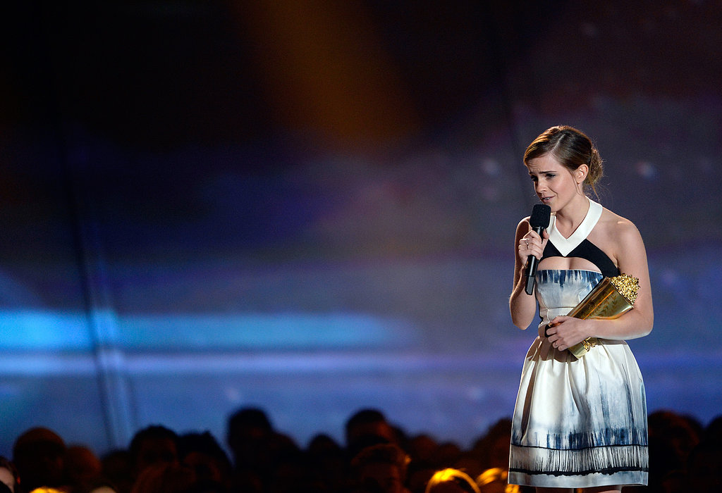 Emma Watson Gets a Special Golden Popcorn From Her Two Hot Co-Stars